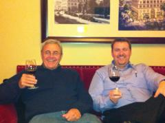 The father-son WineTable duo: CEO Cary Giese and President Paul Giese enjoying a glass of vino.