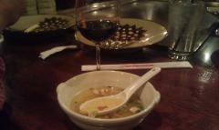 Wine pairing at Benihana: Alexander Valley Cabernet Sauvignon (2009) and onion soup