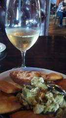 Lagosta Vinho Verde and Avocado-Feta Salsa. Best way to start the weekend ever.